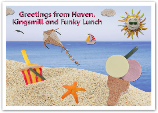 Funky Lunch Postcard